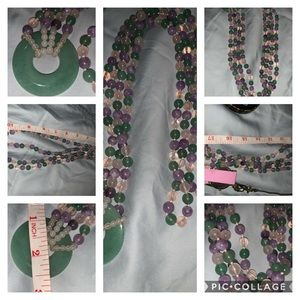 Beautiful grandmas Jade necklace 🌹🥰👌